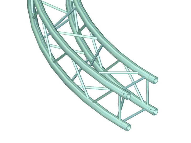 Quadlock 6082 díl pro kruh, d=3 m, vnitřní, 90