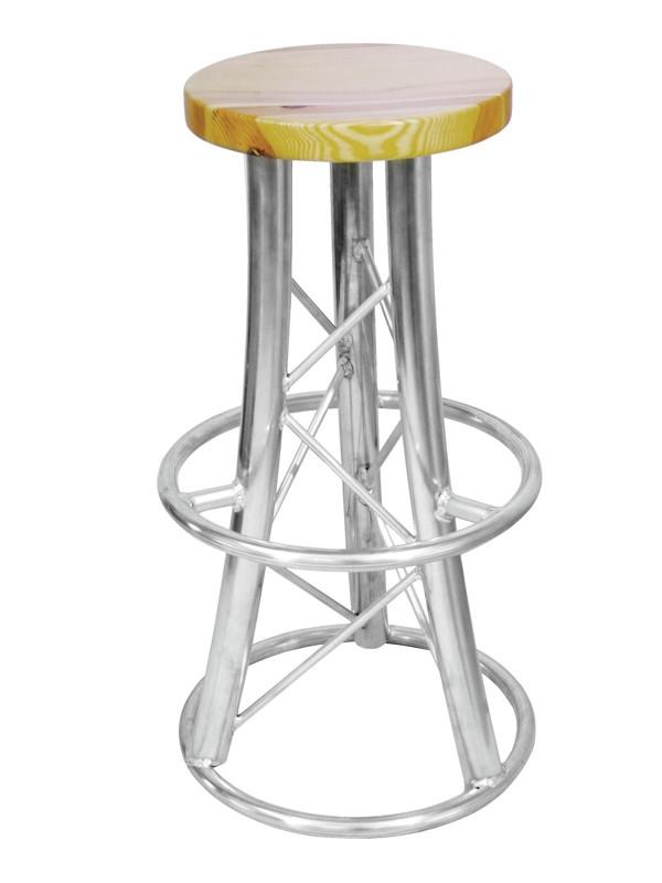 Alutruss barová stolička, 3-nožka prohnutá