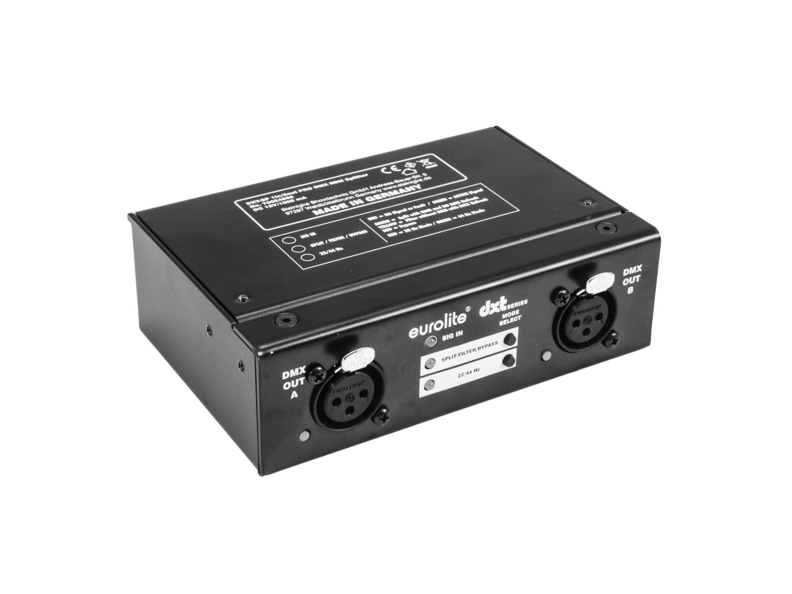Eurolite DXT-SP PRO DMX RDM rozbočovač 1x IN/2x OUT