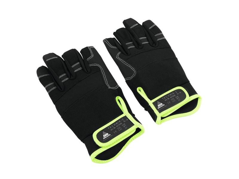 Hase rukavice se 3 otevřenými prsty, velikost M