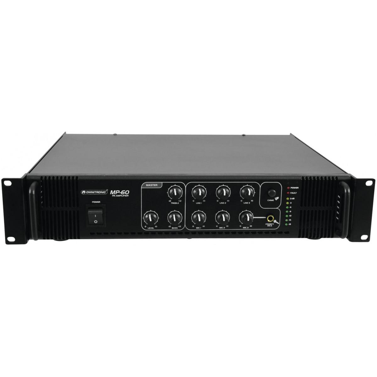 Omnitronic MP-60, zesilovač, 60 W, 100 V