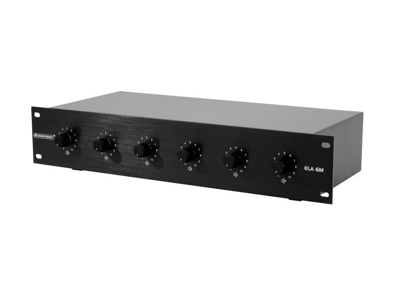 Omnitronic ELA 6M - 30 W černý, mono 6-zónový regulátor