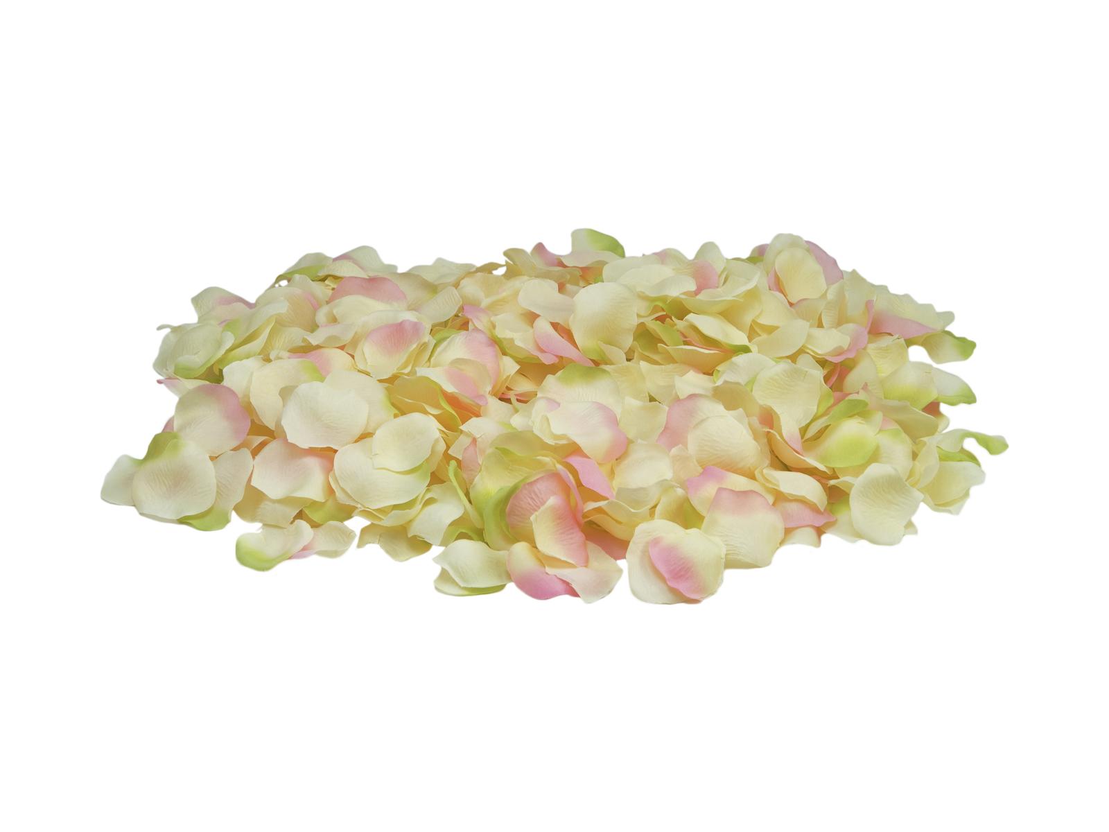 Okvětní lístky růže, žluto-růžové, 500 ks