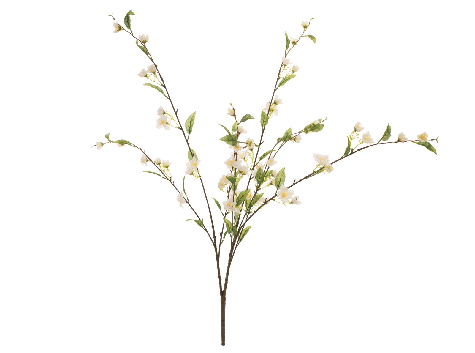 Třešen větvička krémová, 60 cm