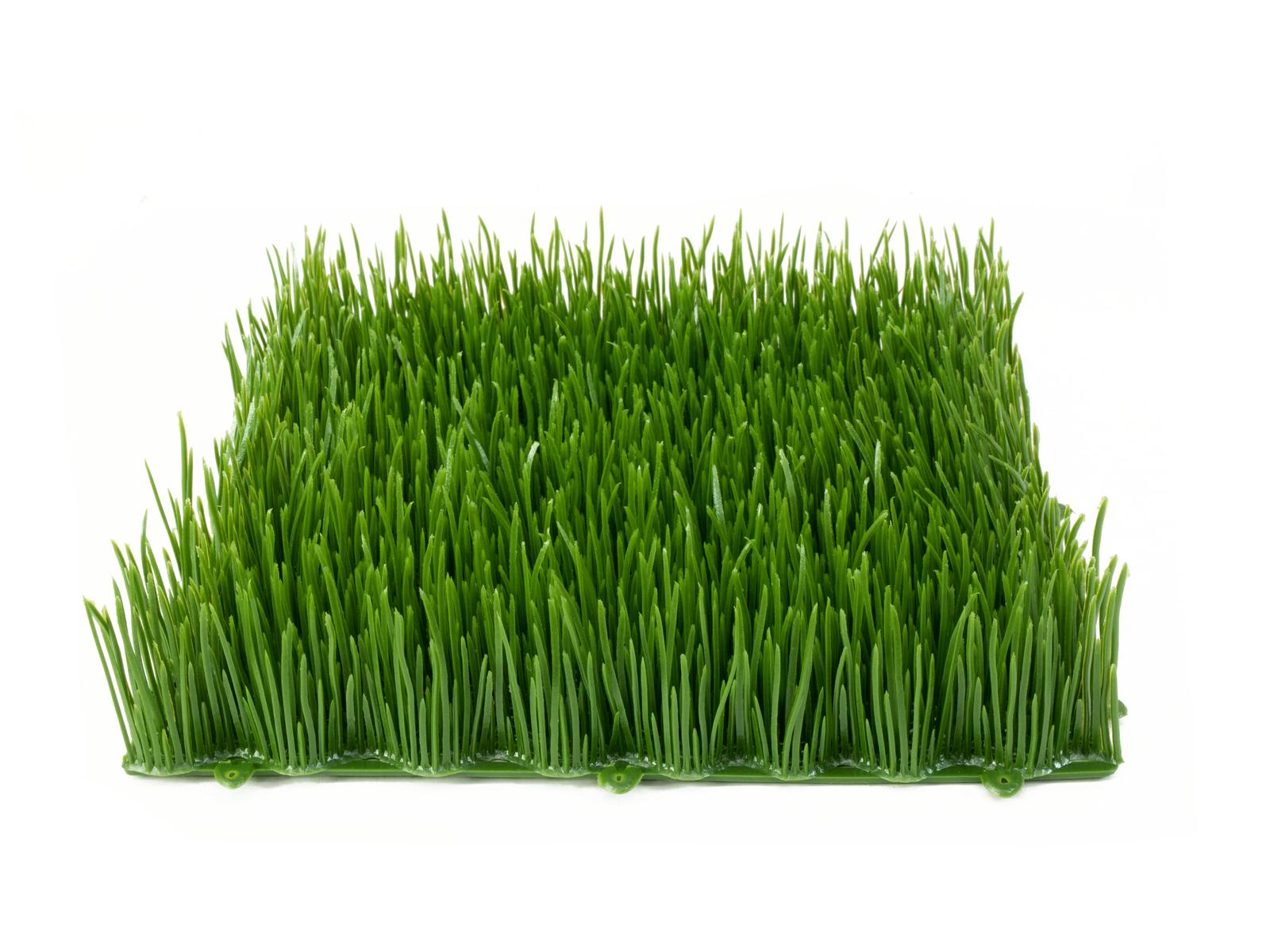 Umělá tráva, tmavě zelená, 25 x 25 cm