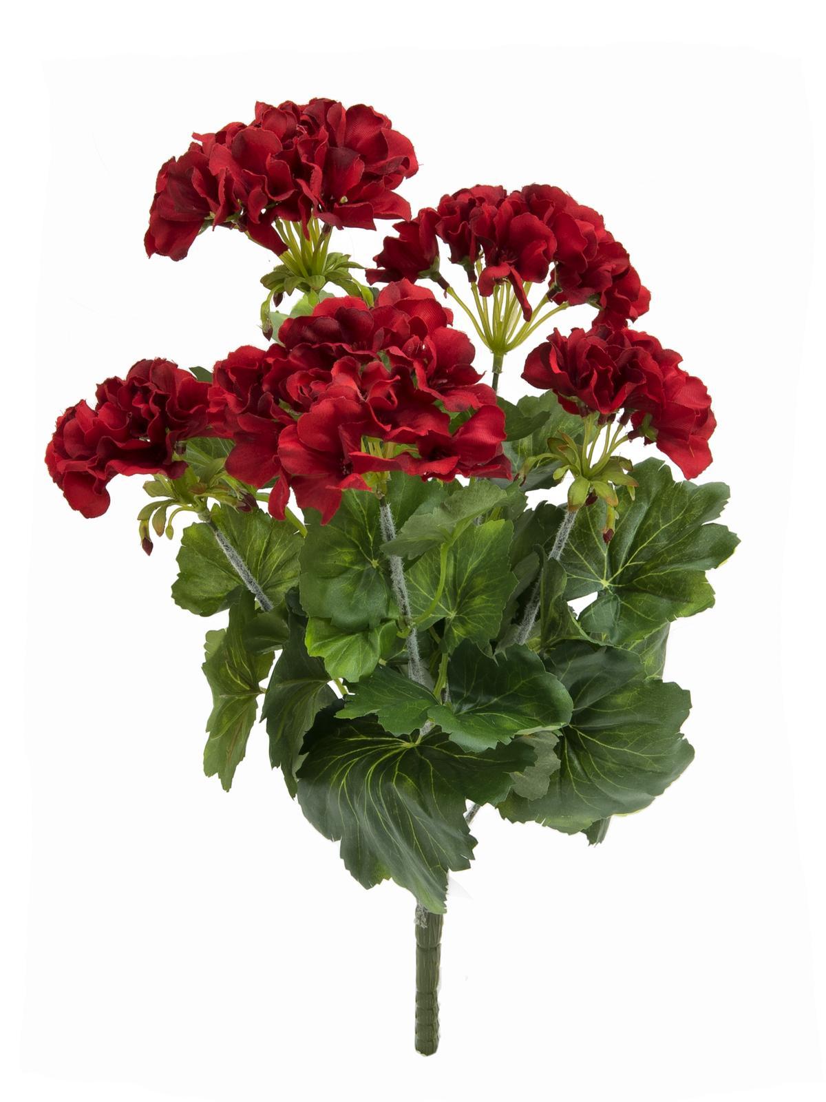 Červená Pelargonie, 42 cm
