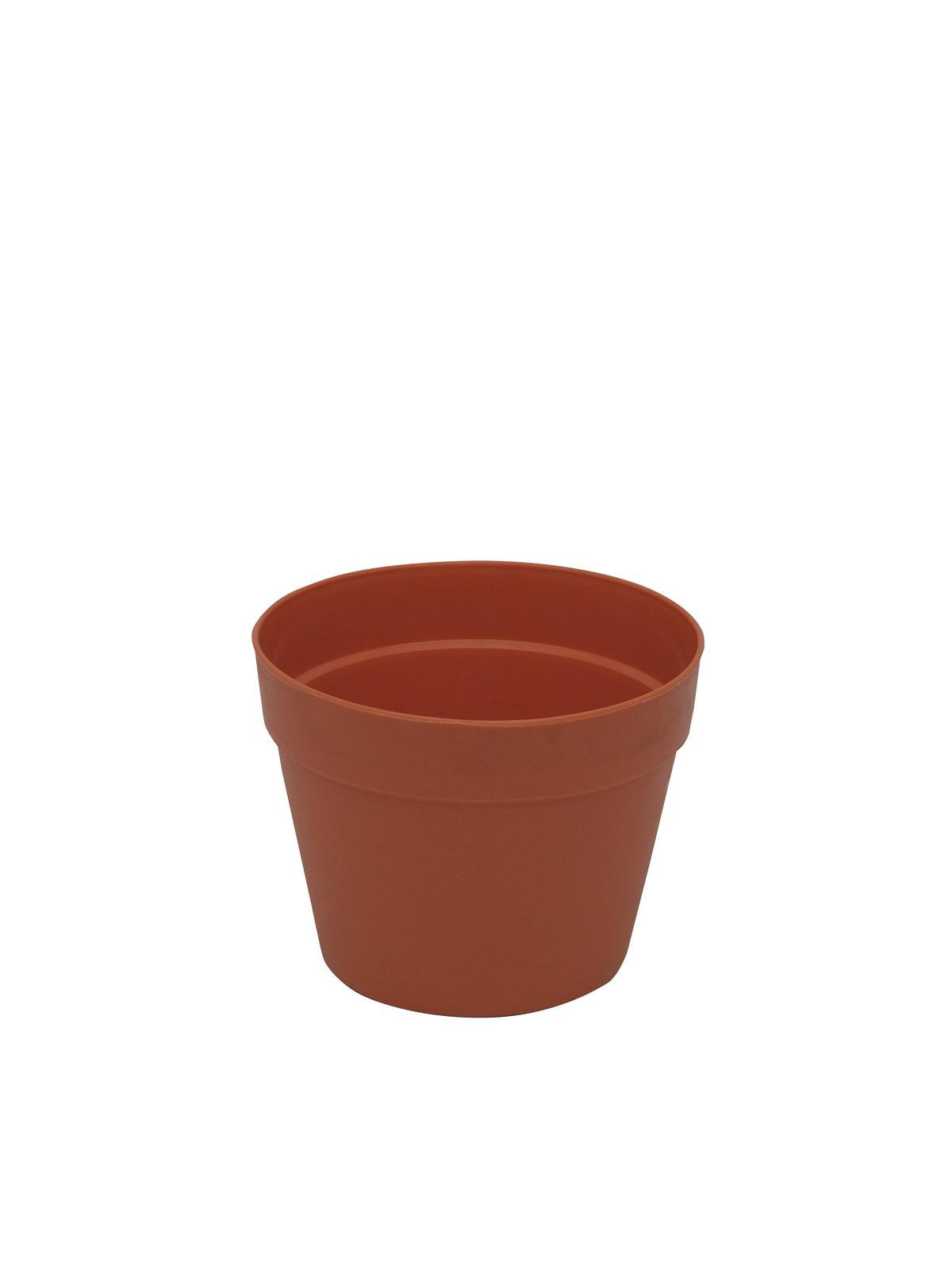 Květináč plastový, červený, 17cm