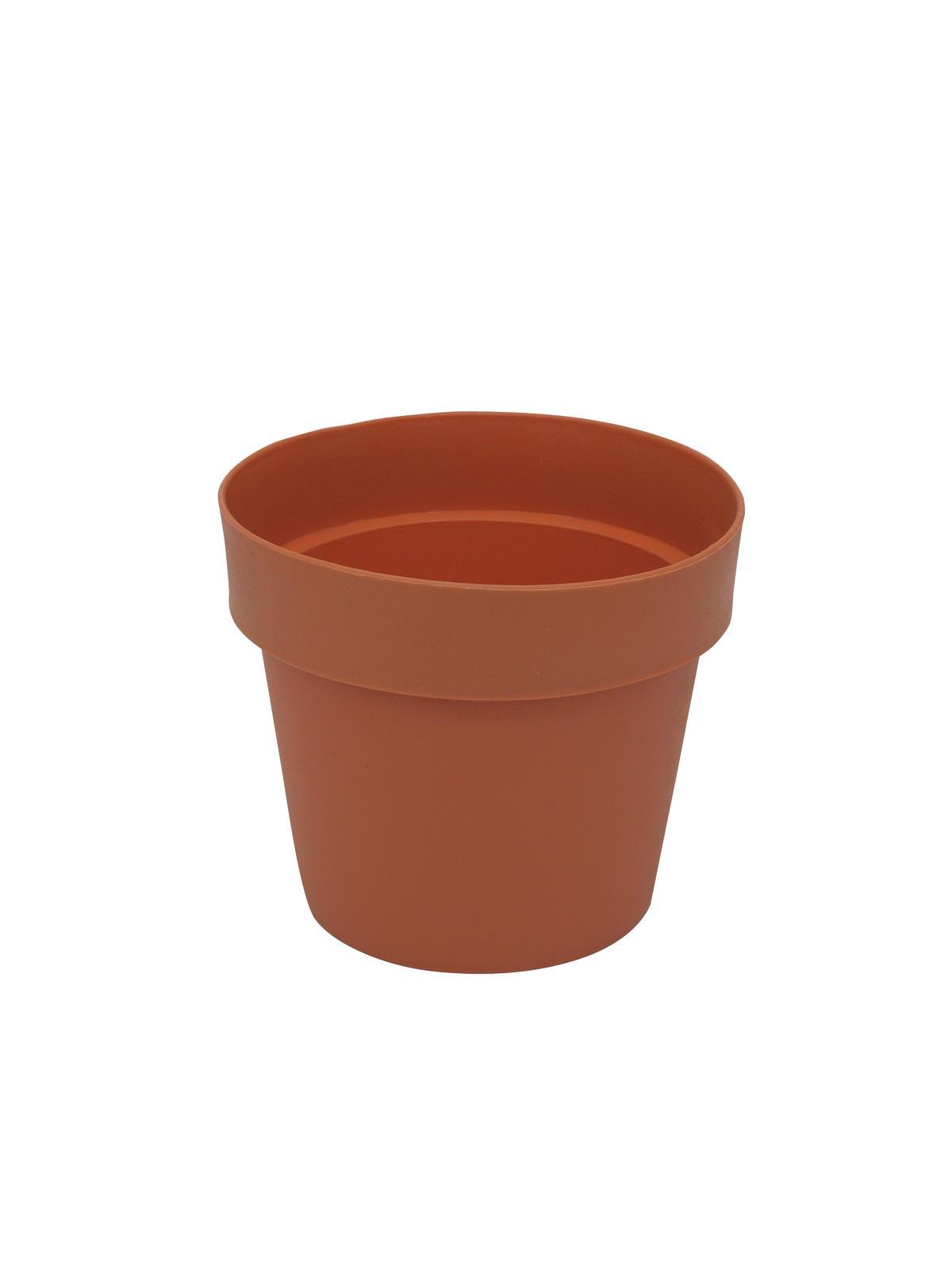 Květináč plastový, červený, 20cm