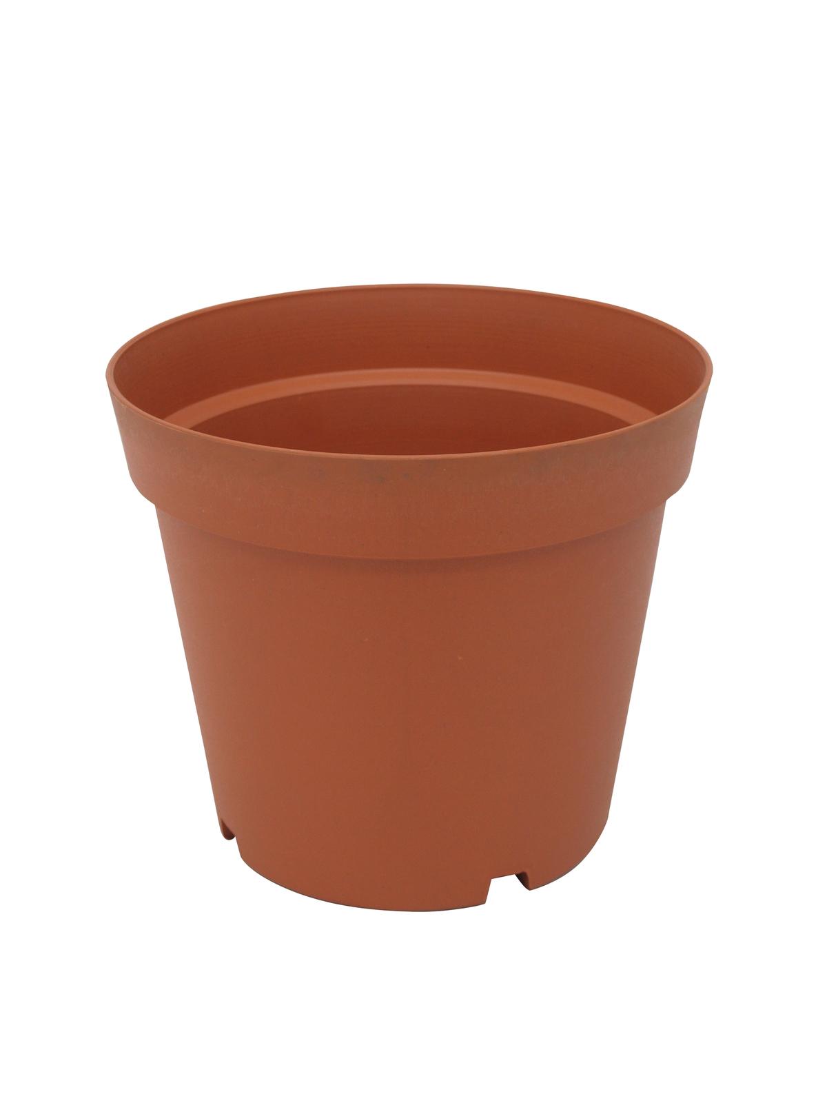 Květináč plastový, červený, 24cm