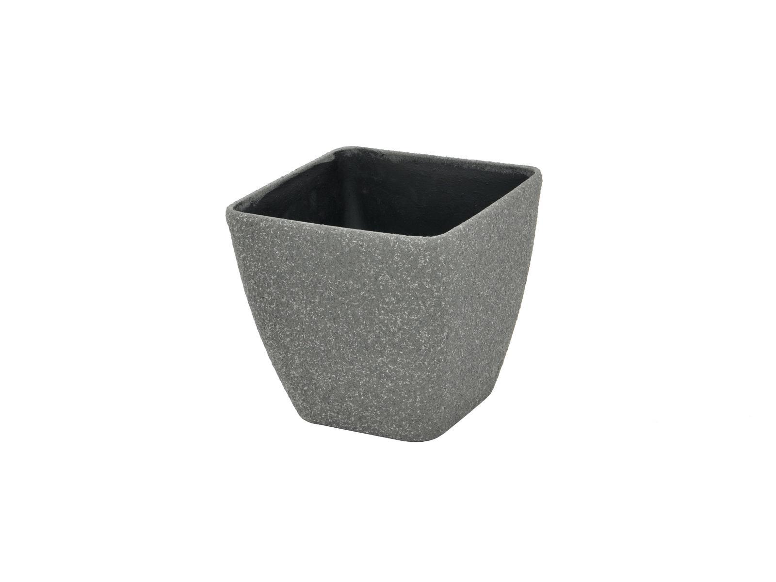 Květináč STONA-41, Krychlový malý, šedý