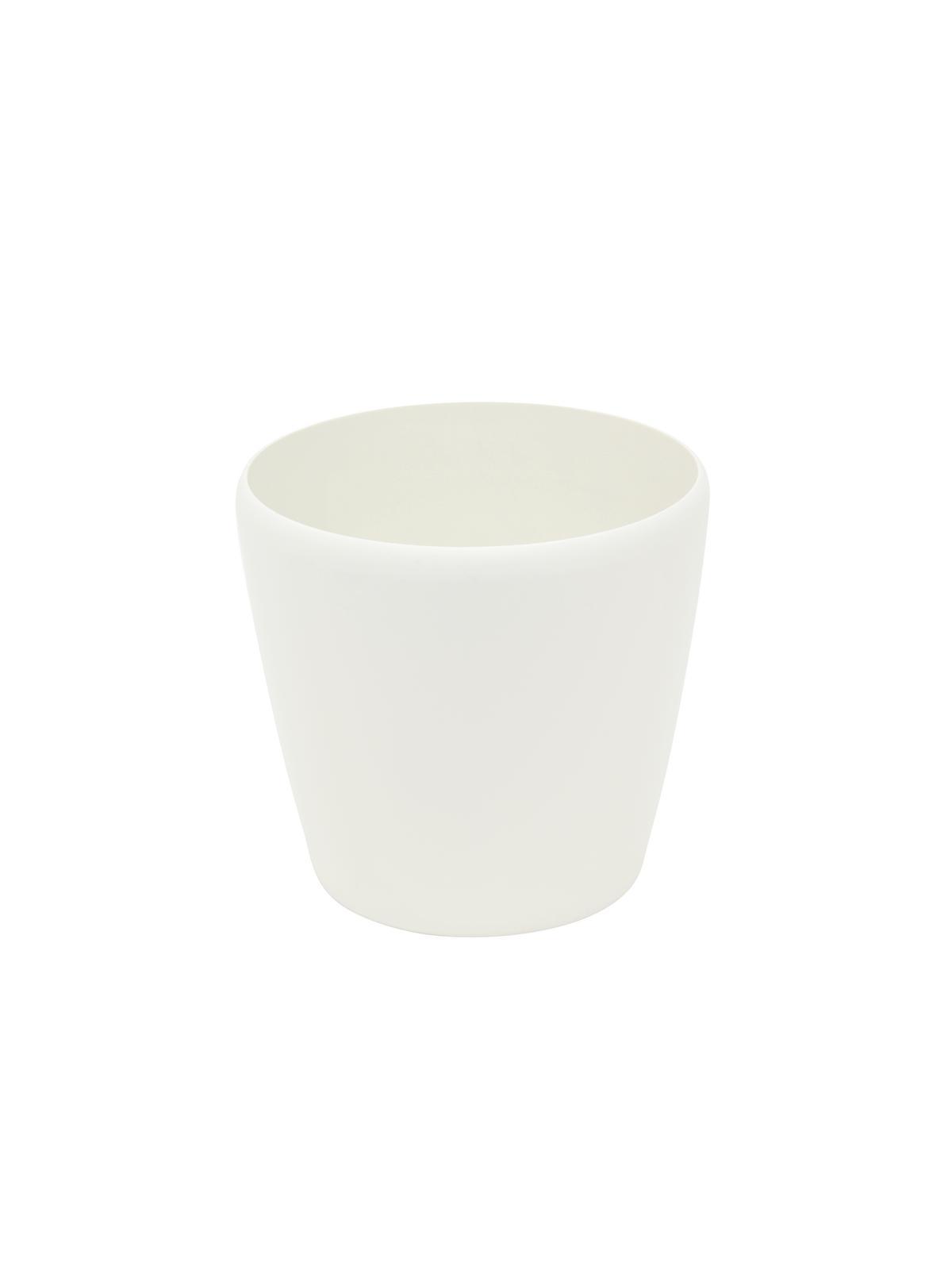 Květináč LUNA-20, kulatý, bílý
