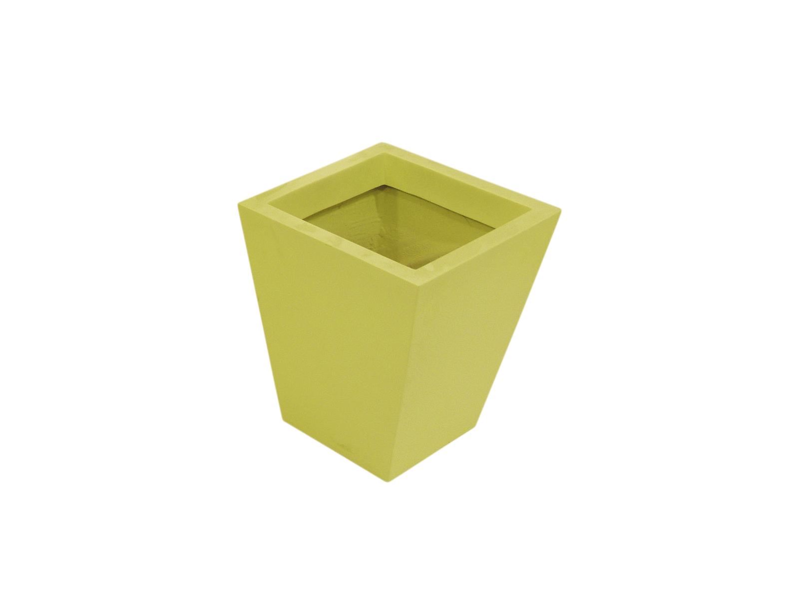 Květináč ze skleněných vláken, žlutý, čtvercový, 45 cm