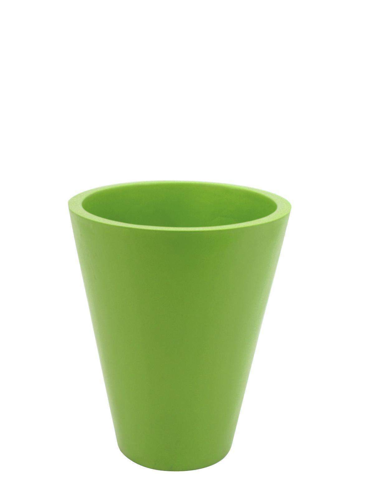 Květináč ze skleněných vláken, zelený, 61 cm
