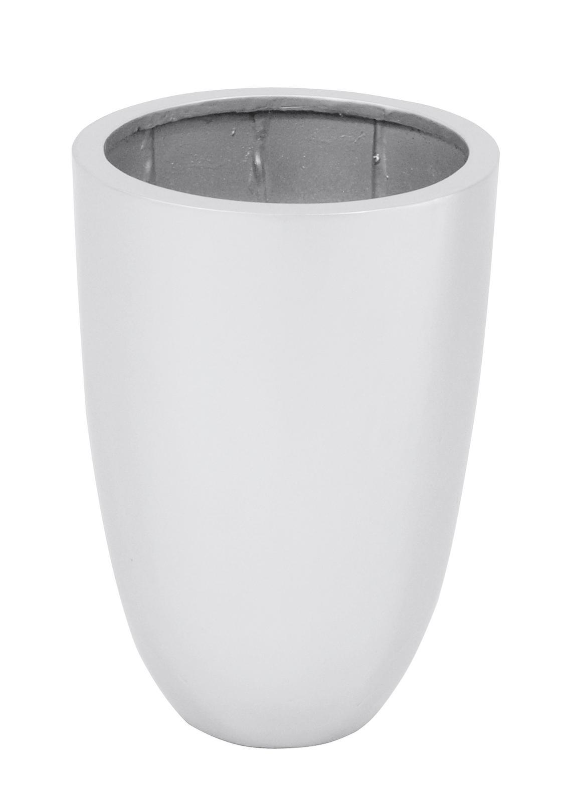 Květináč hliník-laminát, 49cm, lesklý-stříbrný