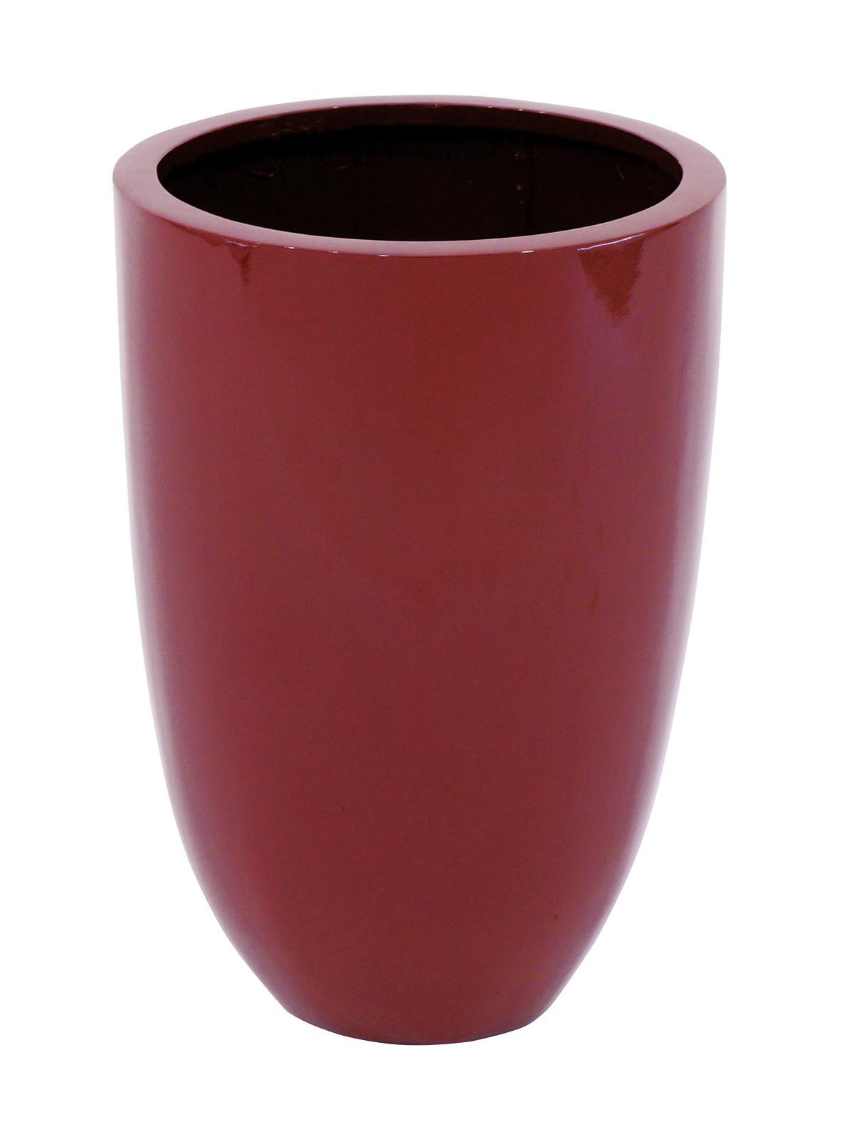 Květináč hliník-laminát, 49cm, lesklý-červený