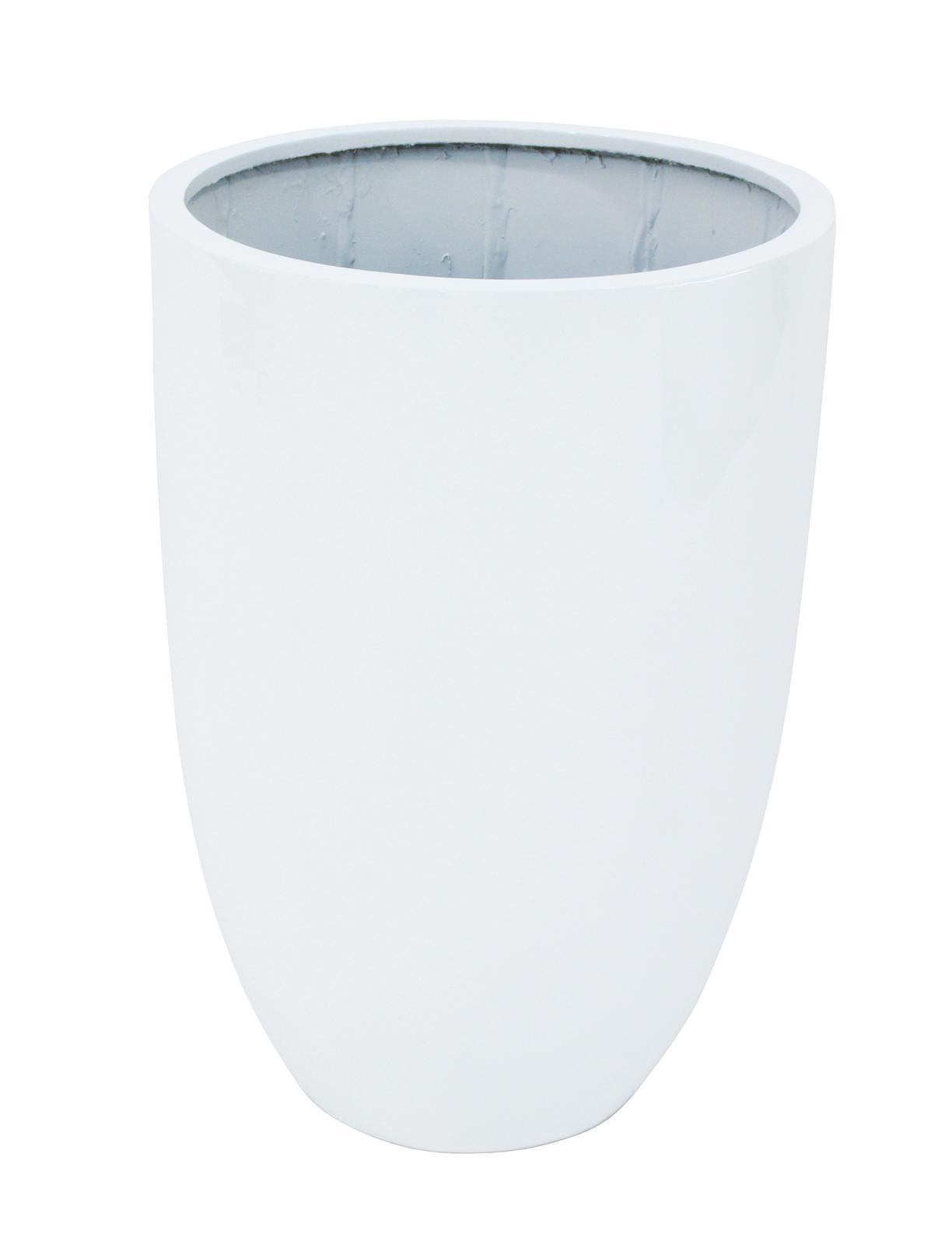 Květináč hliník-laminát, 69cm, lesklý-bílý