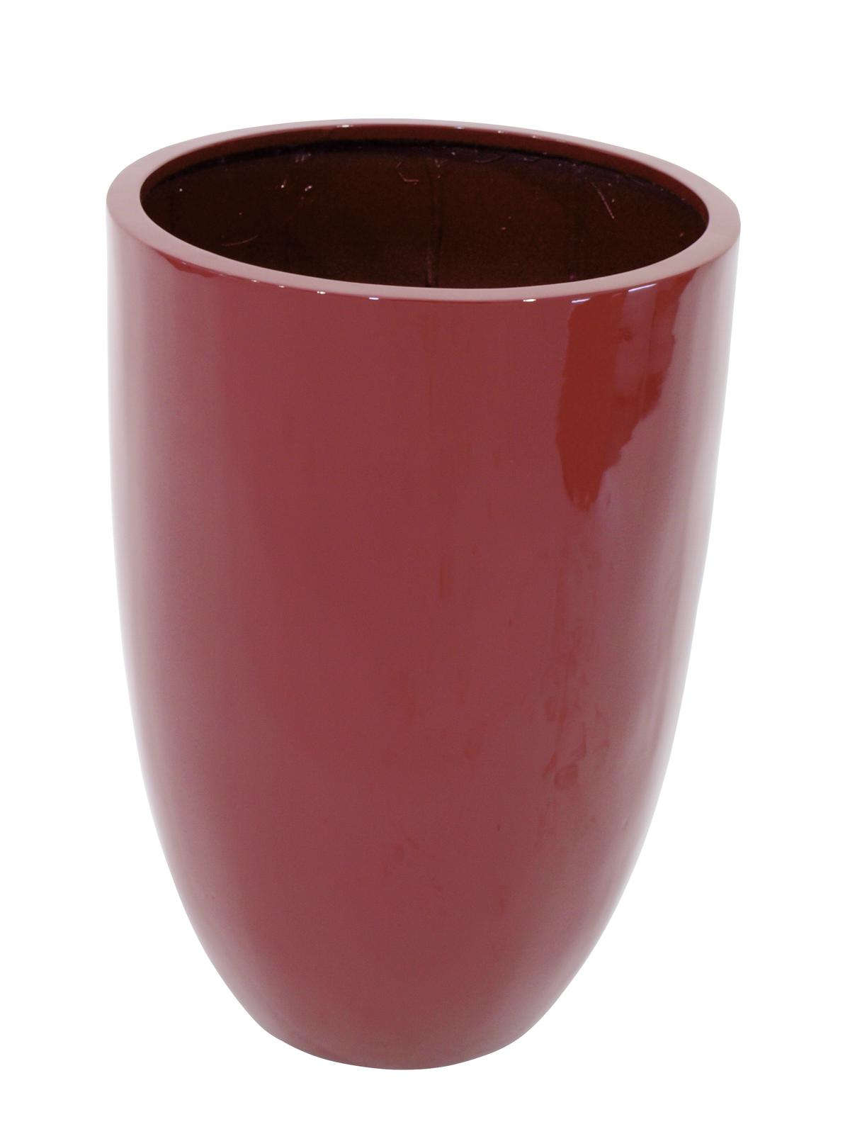 Květináč hliník-laminát, 69cm, lesklý-červený