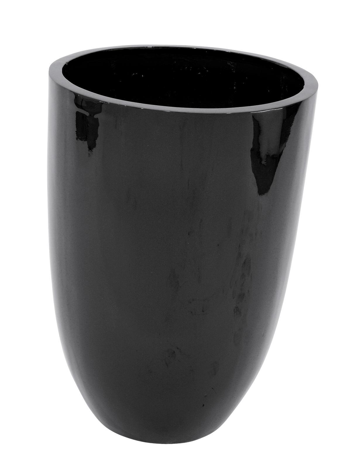 Květináč hliník-laminát, 69cm, lesklý-černý