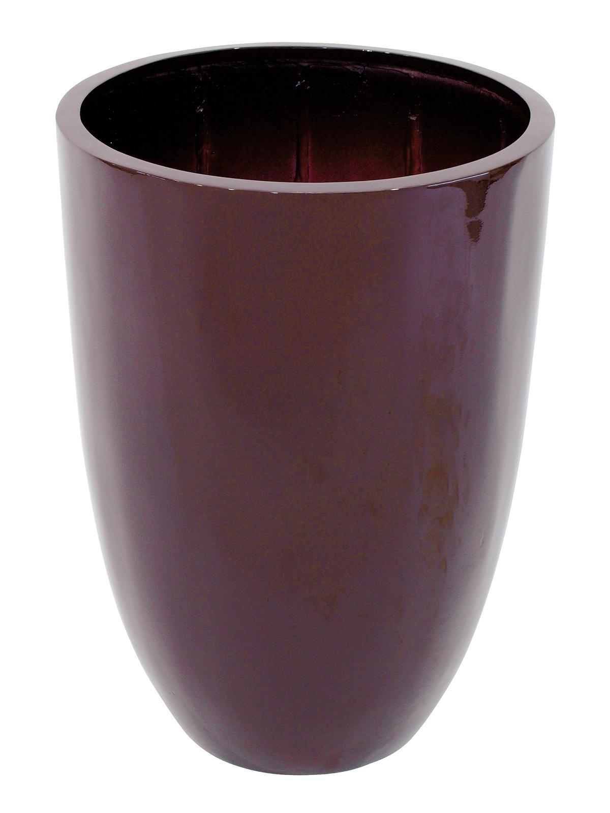 Květináč hliník-laminát, 69cm, lesklý-hnědý