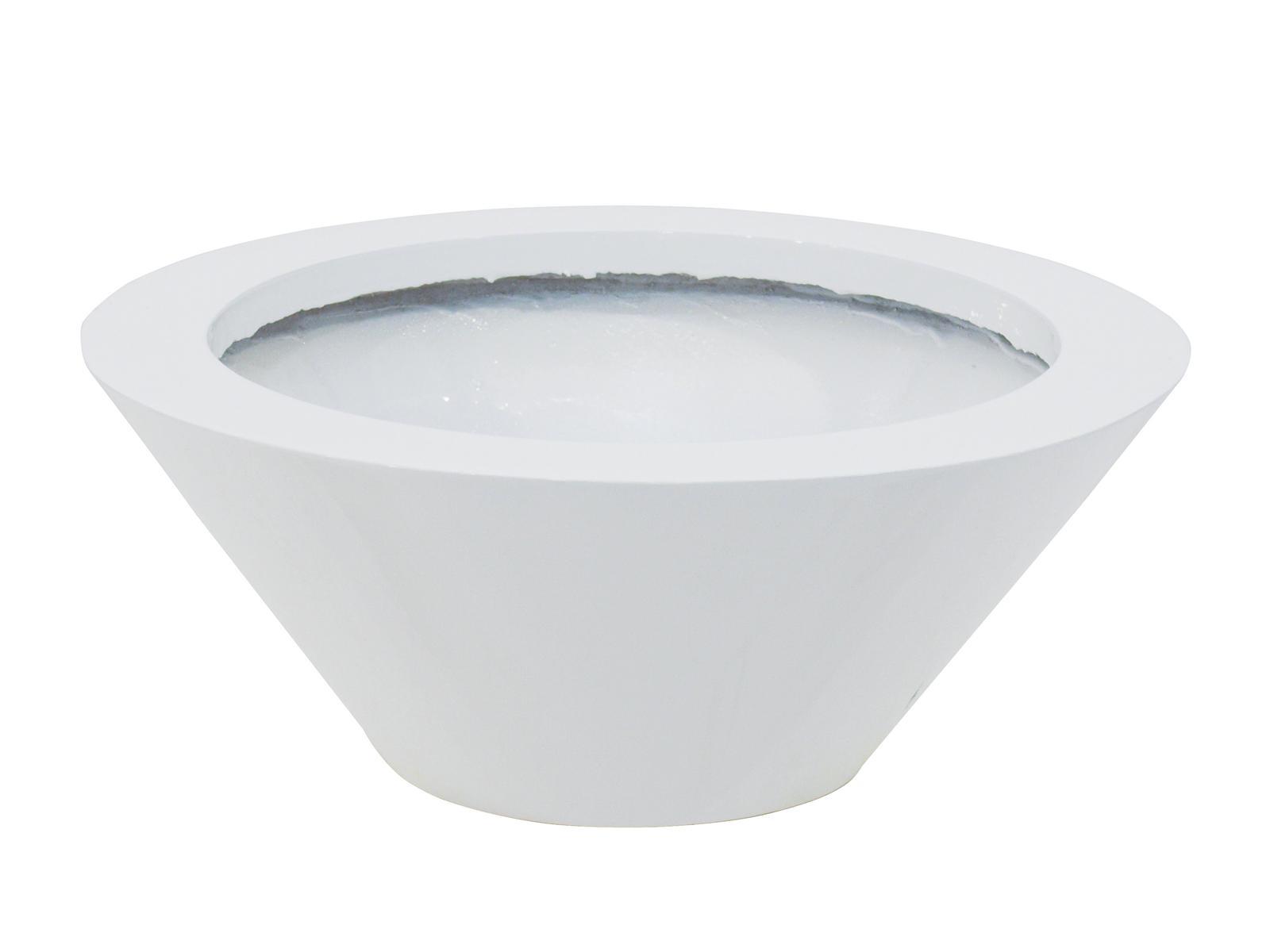 Květináč hliník-laminát, 15 cm, lesklý-bílý