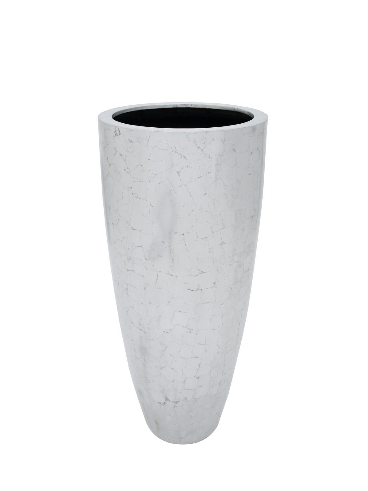 LEICHTSIN DELUXE-120, antický květináč, stříbrný