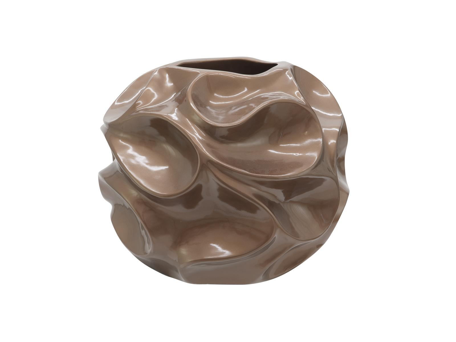 Bubble designový květináč 35cm, hnědý