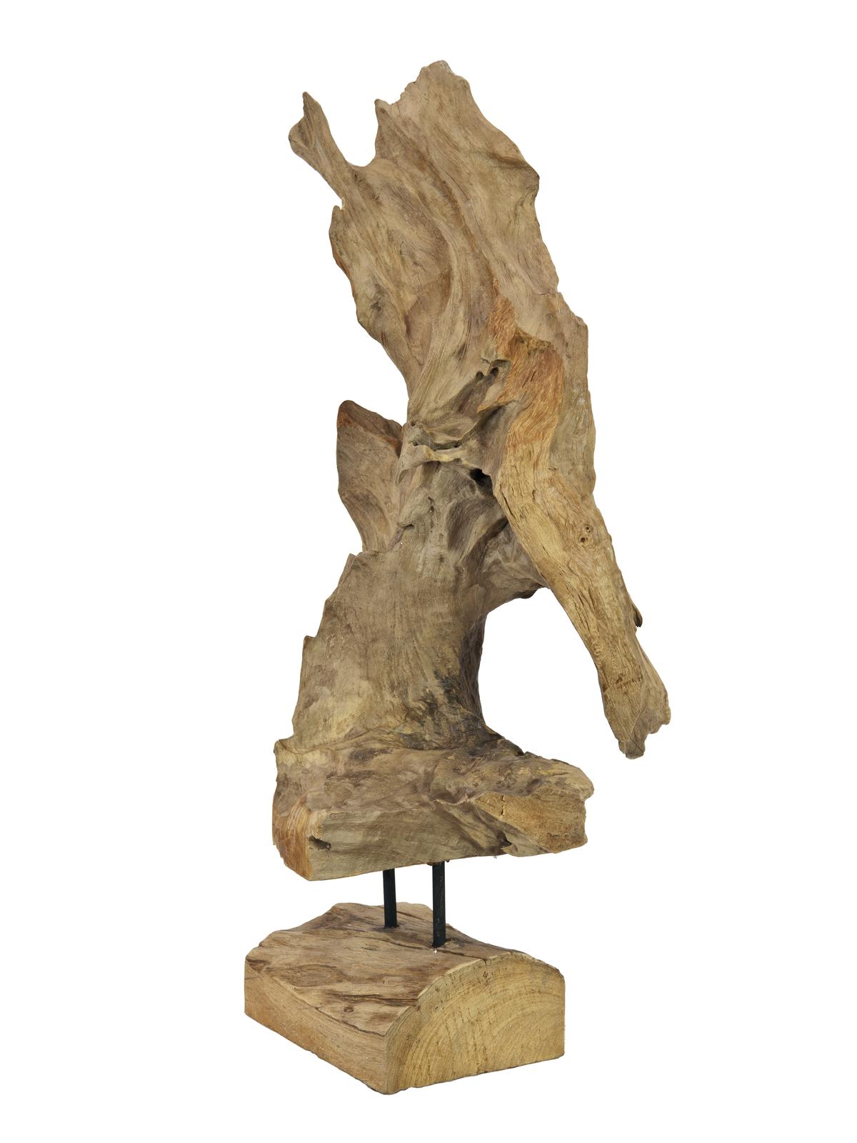 Dekorativní socha přírodního dřeva, 60 cm