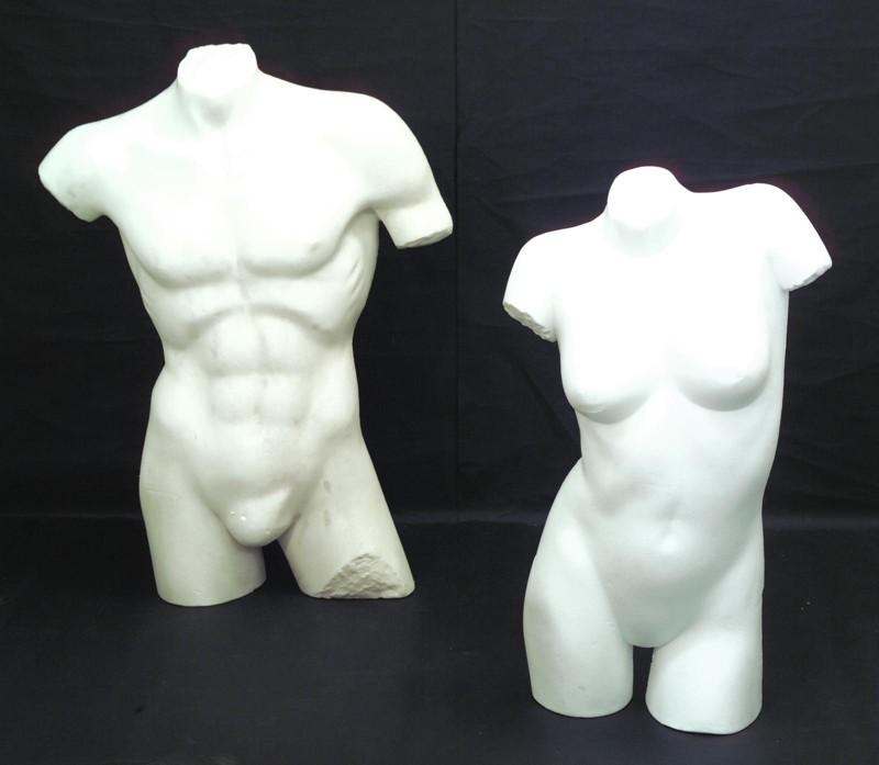Torso mužské, tělo bílé