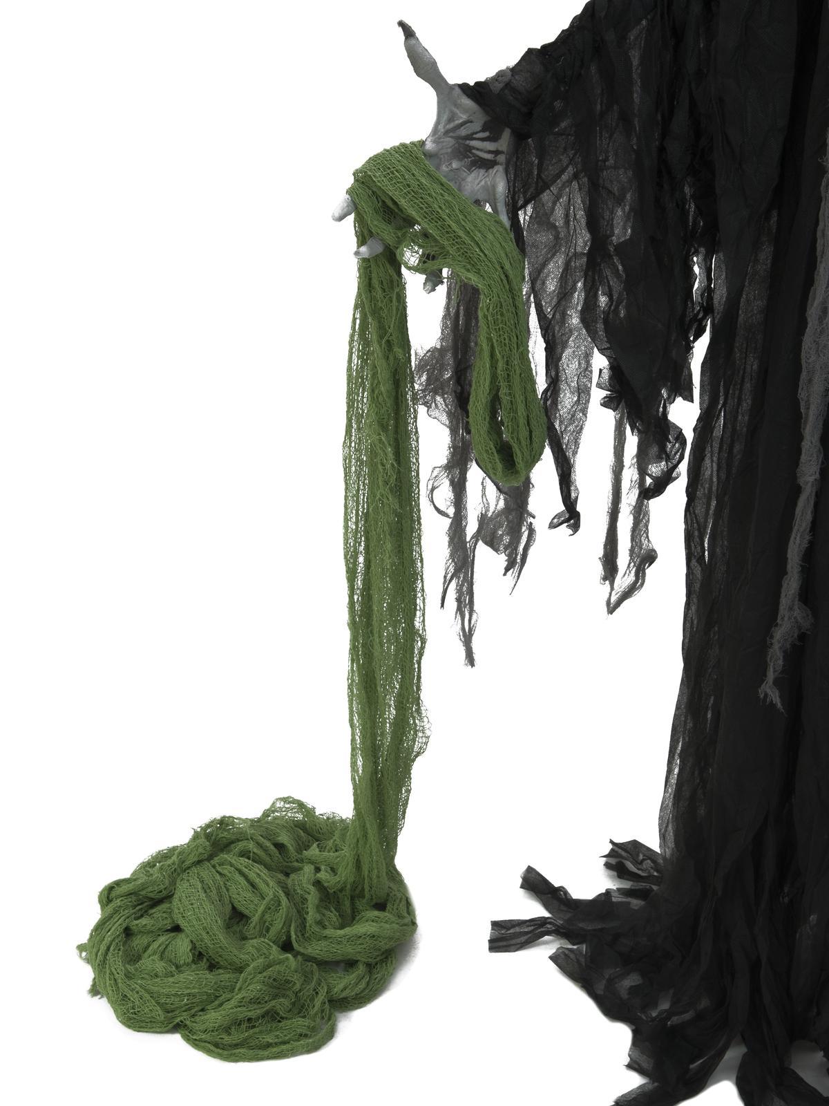 Dekorační tkanina, hrubá, zelená, 76x500cm