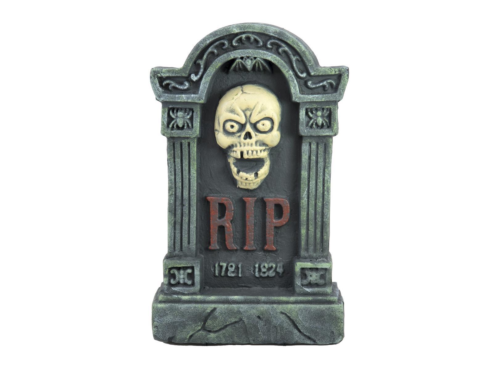 Halloween náhrobek s lebkou, 56cm