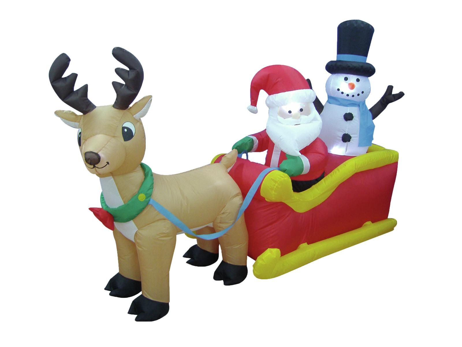 Nafukovací Santa na saních, 200cm