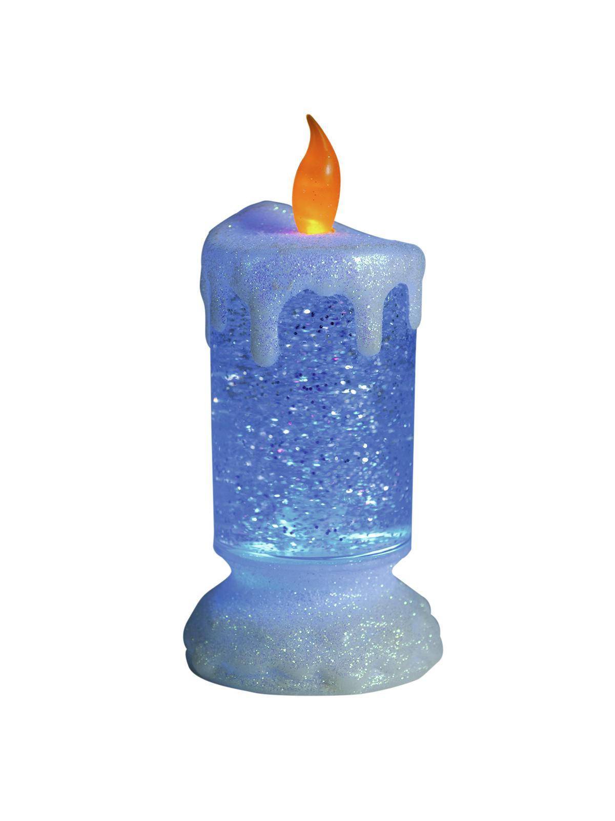 Vánoční LED svíčka, barevná
