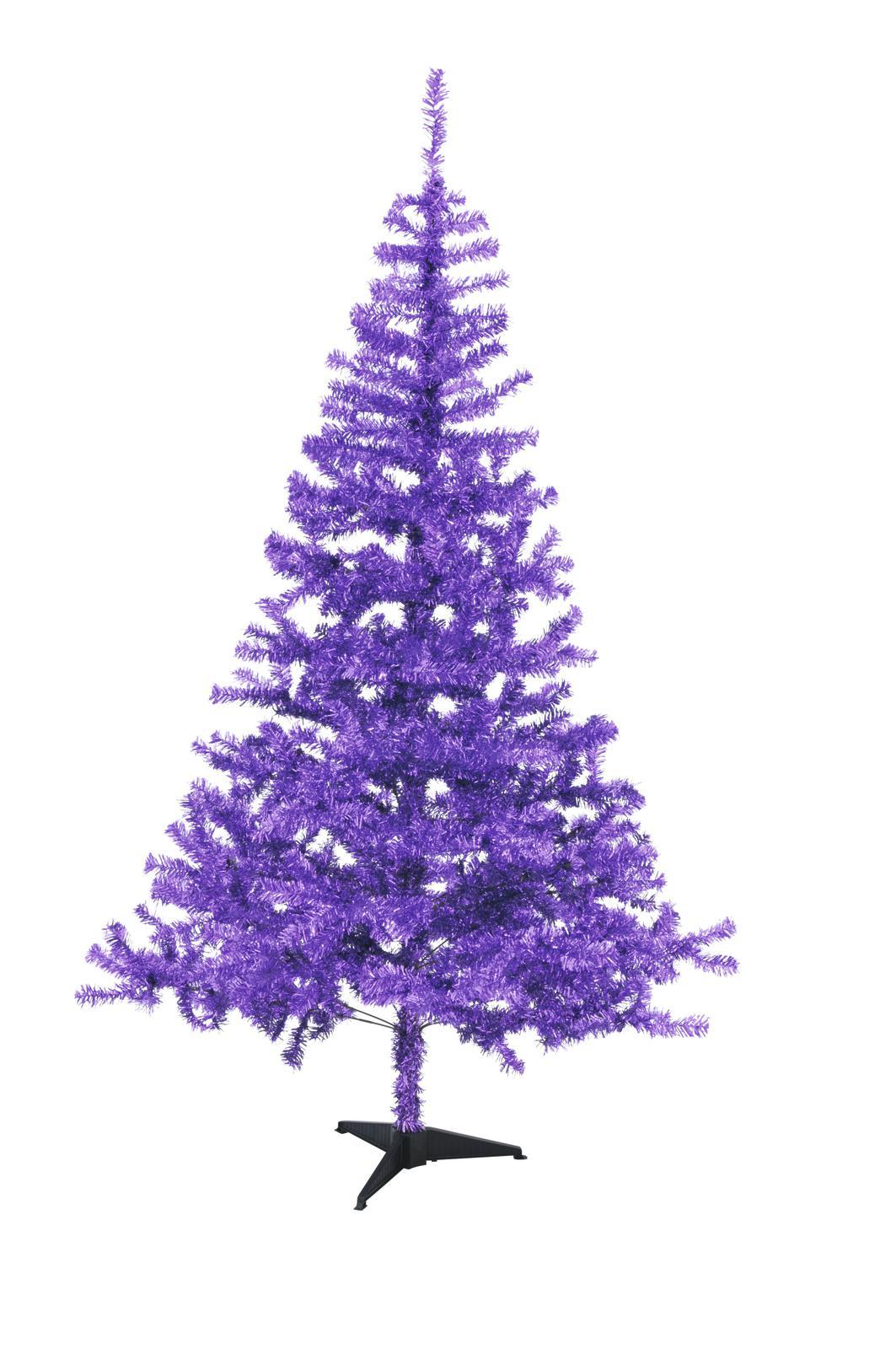 Vánoční jedle, fialová, 240 cm