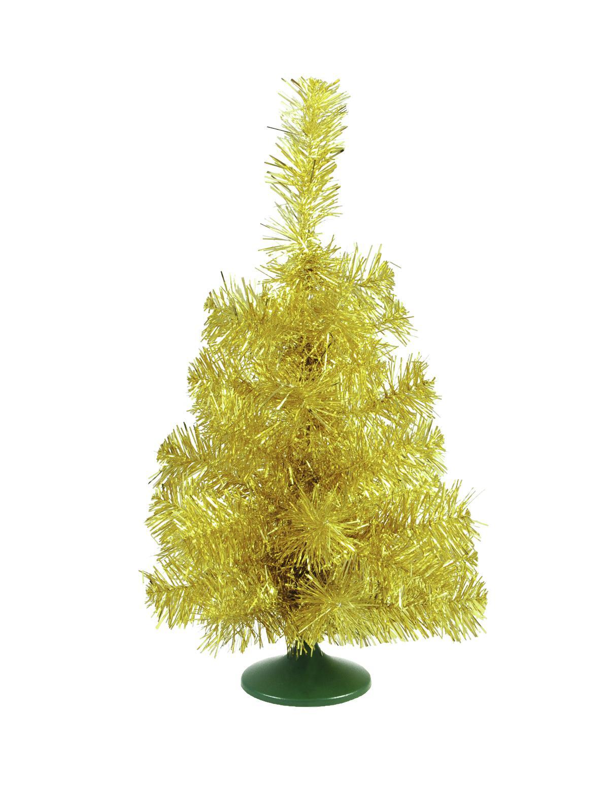 Umělý vánoční stromek stolní jedlička zlatá, 45 cm