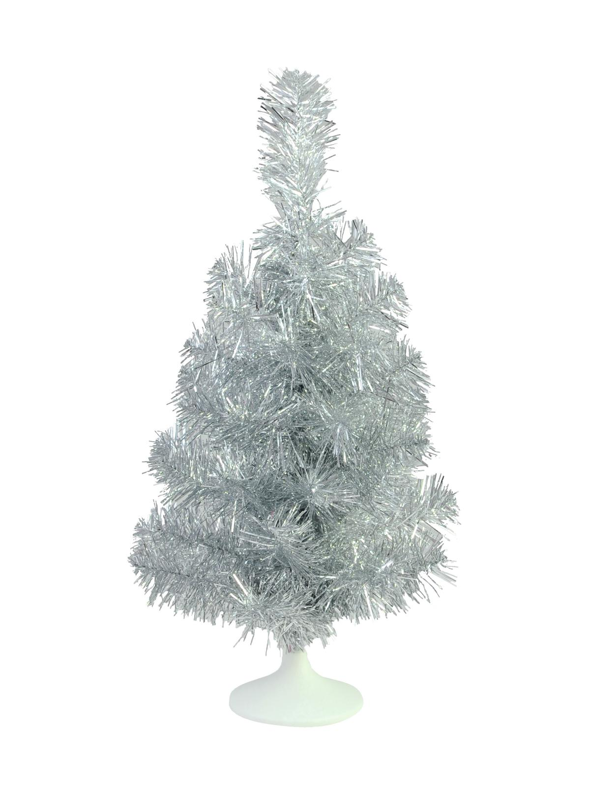 Umělý vánoční stromek stolní jedlička stříbrná, 45 cm