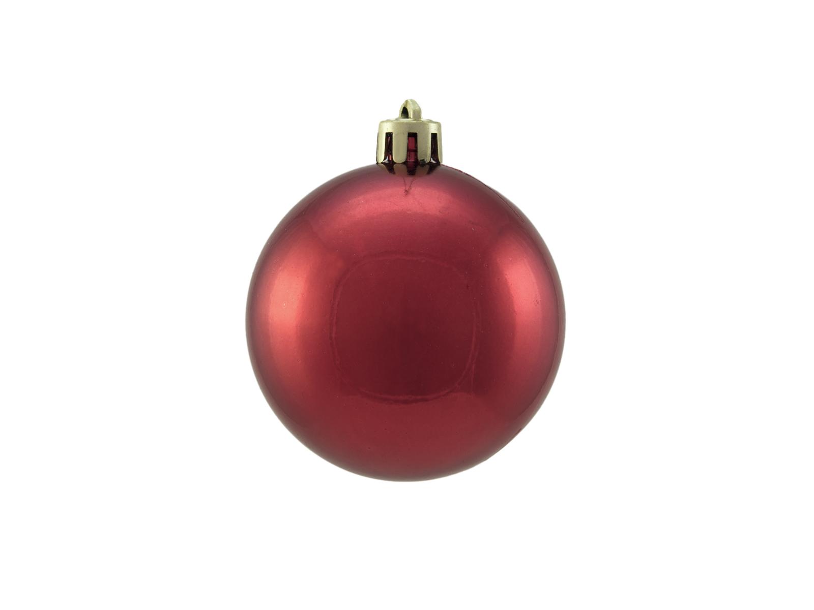 Vánoční dekorační ozdoby, 6 cm, červená metalíza, 6 ks