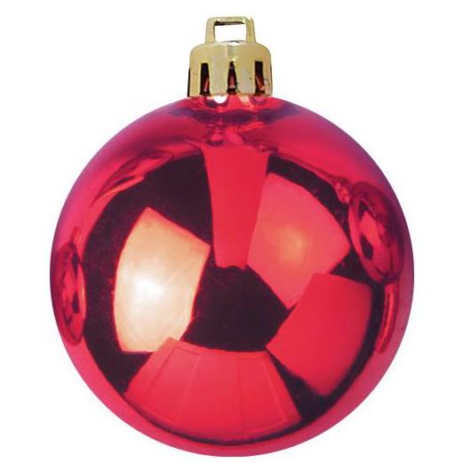 Vánoční dekorační ozdoby, 7 cm, červené, 6 ks