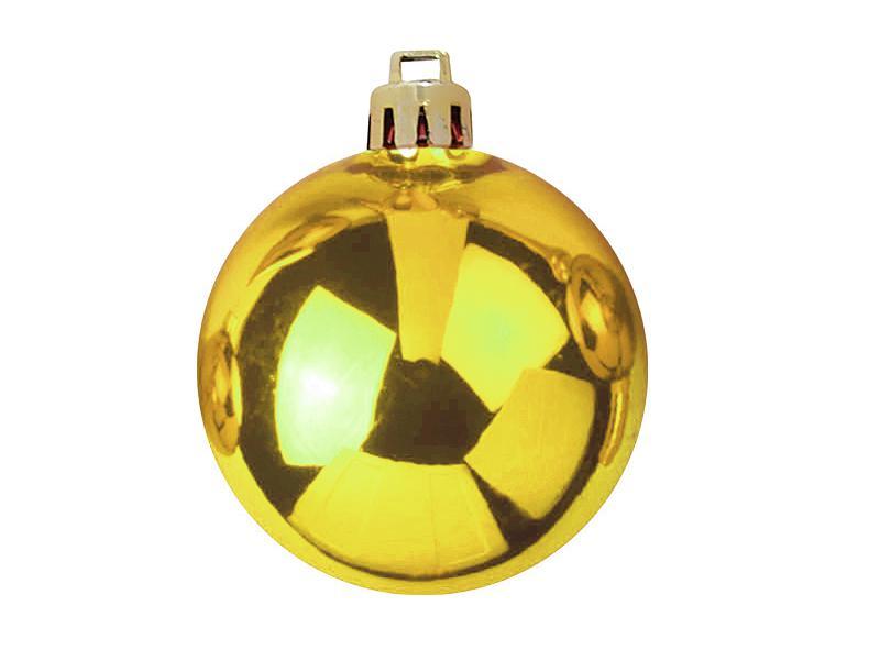 Vánoční dekorační ozdoby, 7 cm, zlaté, 6 ks