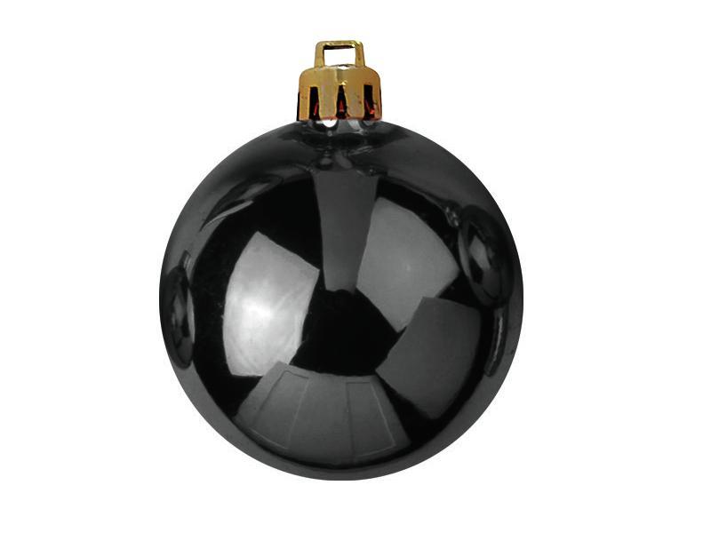 Vánoční dekorační ozdoby, 7 cm, černé, 6 ks