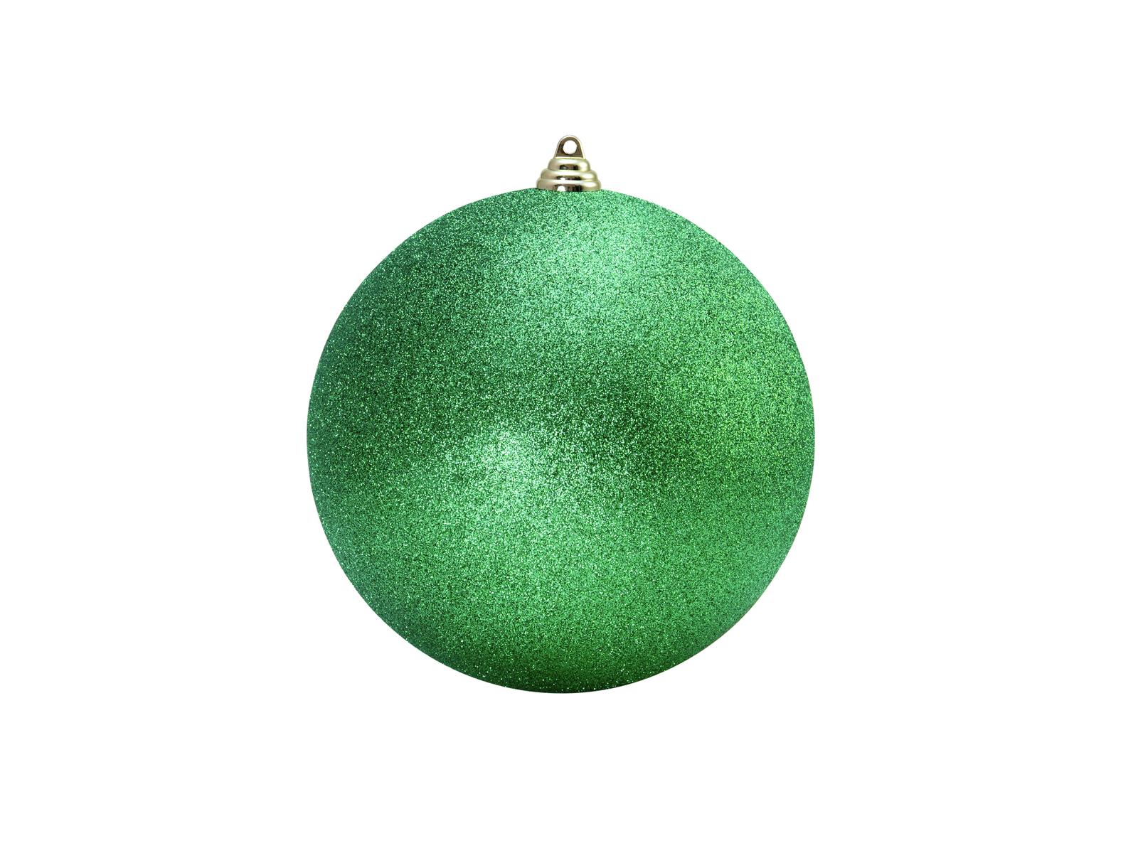 Vánoční dekorační ozdoba, 20 cm, jablečně zelená se třpytkami, 1 k