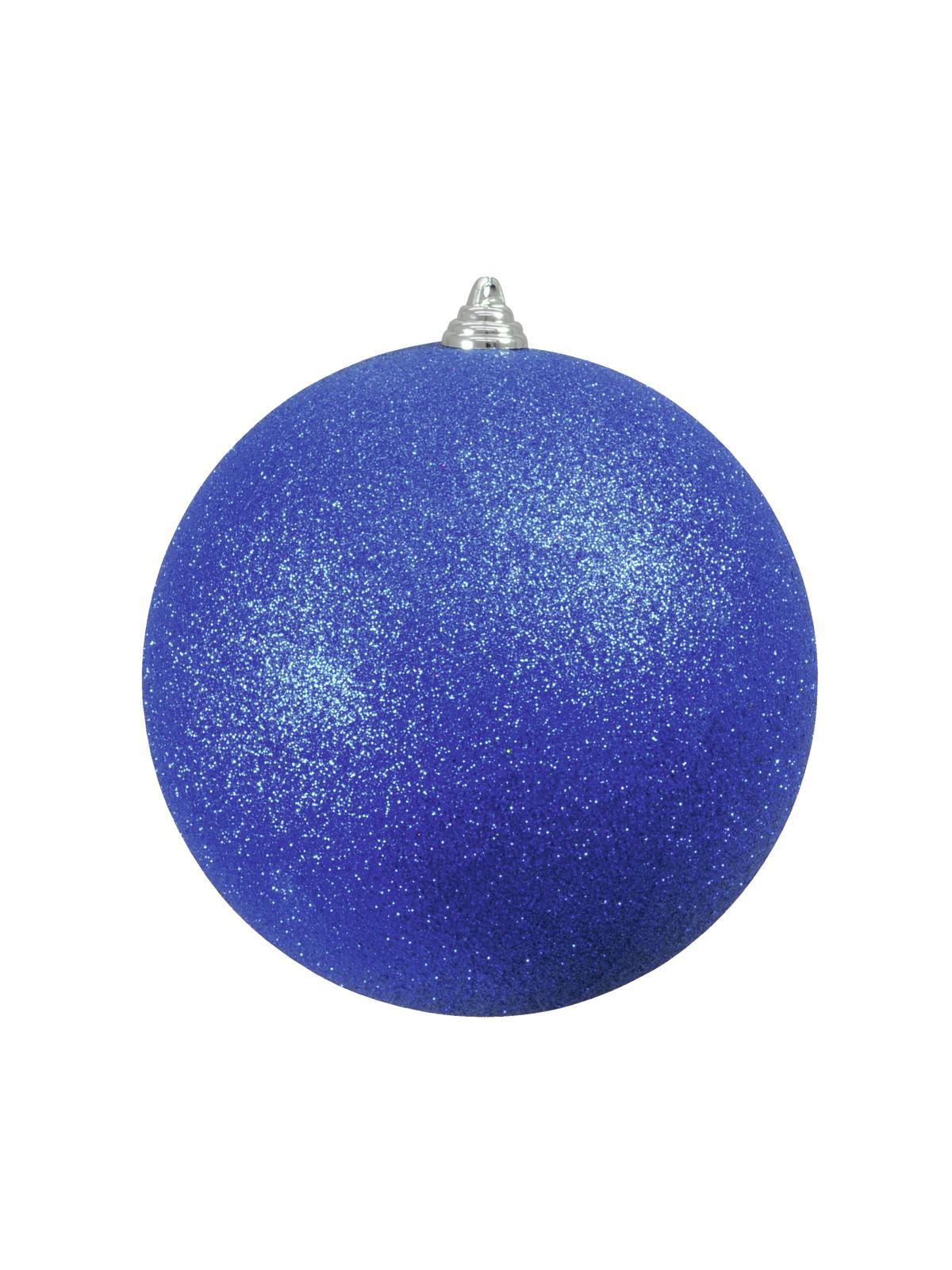 Vánoční dekorační ozdoba, 20 cm, modrá se třpytkami, 1 ks
