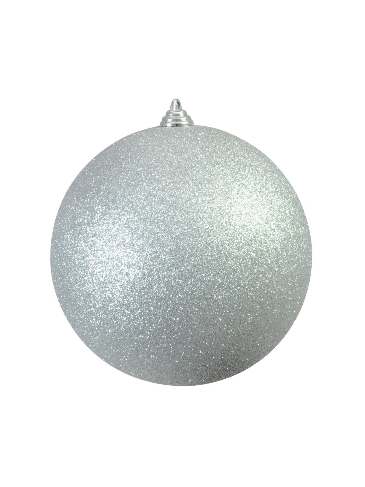 Vánoční dekorační ozdoba, 20 cm, stříbrná se třpytkami, 1 ks