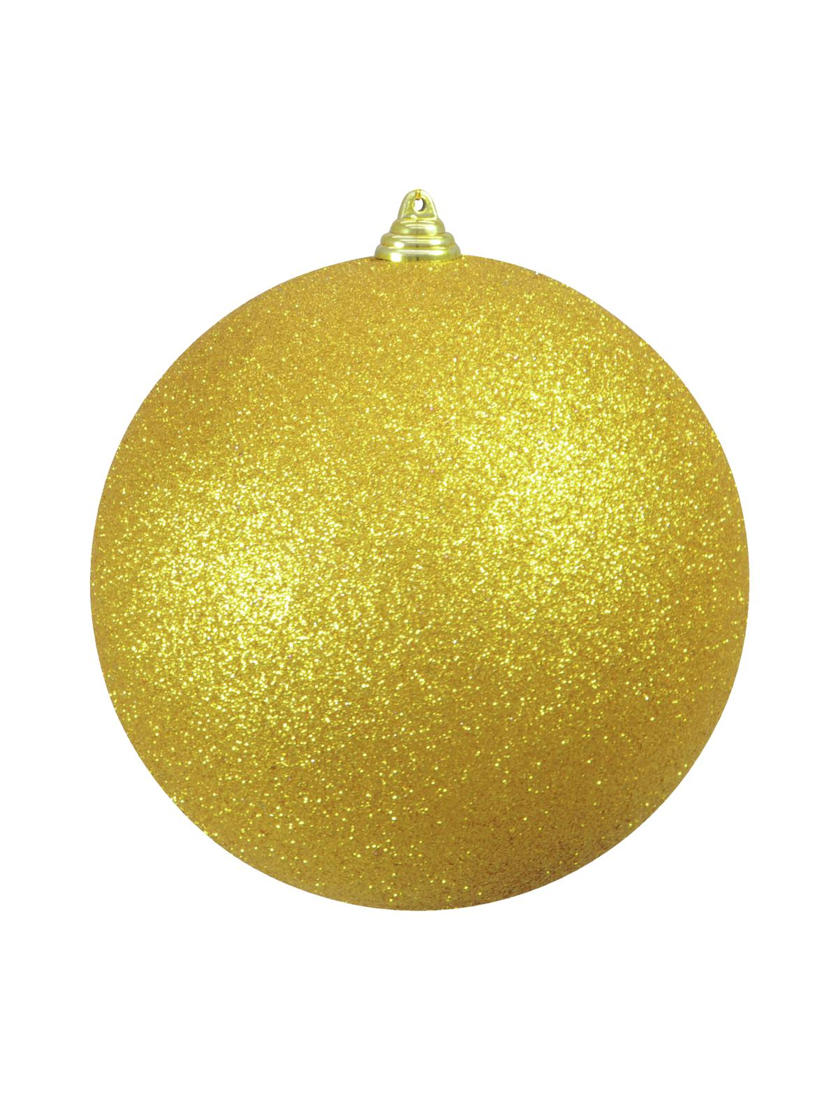 Vánoční dekorační ozdoba, 20 cm, zlatá se třpytkami, 1 ks