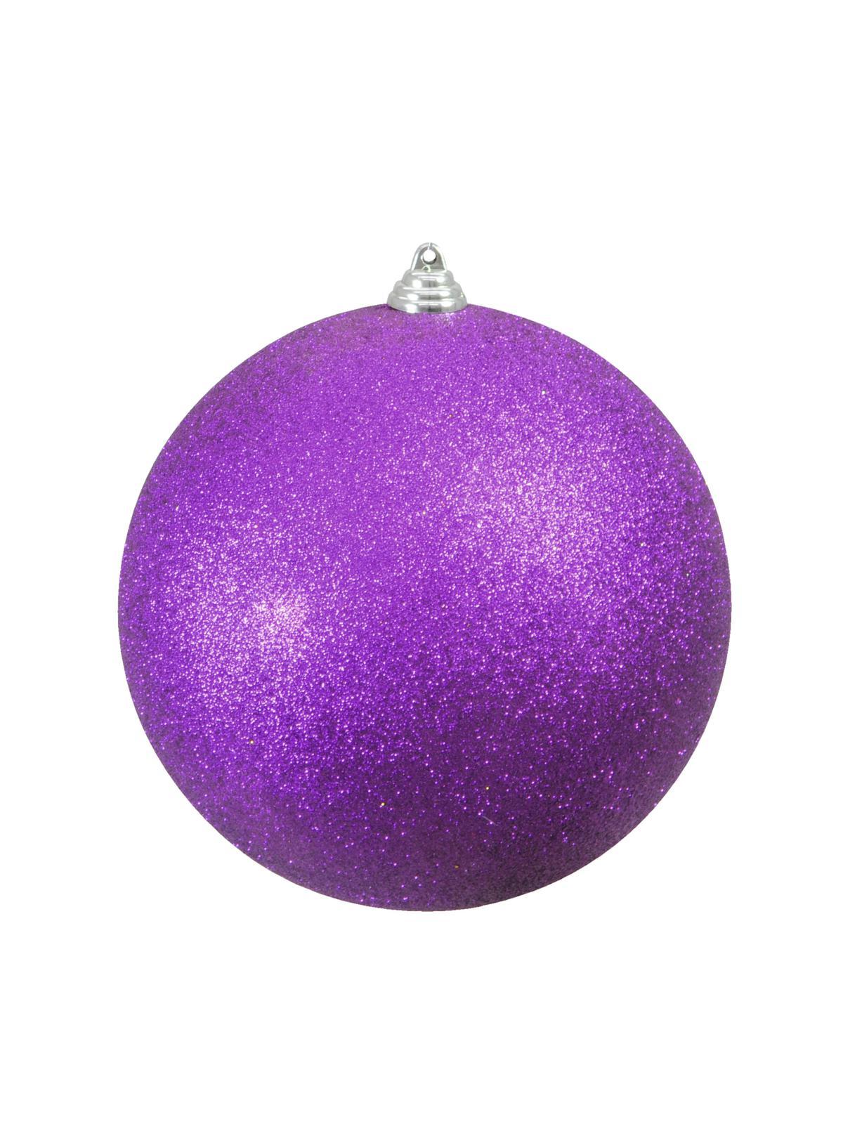Vánoční dekorační ozdoba, 20 cm, fialová se třpytkami, 1 ks