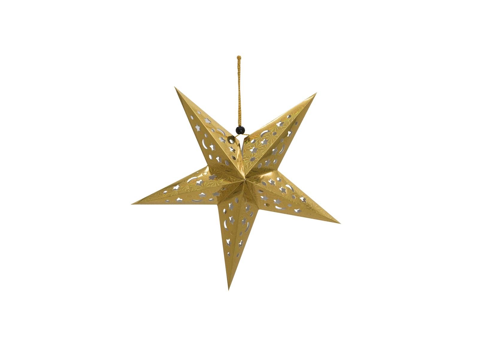 Europalms Star Lantern, papírová hvězda 40cm, zlatá