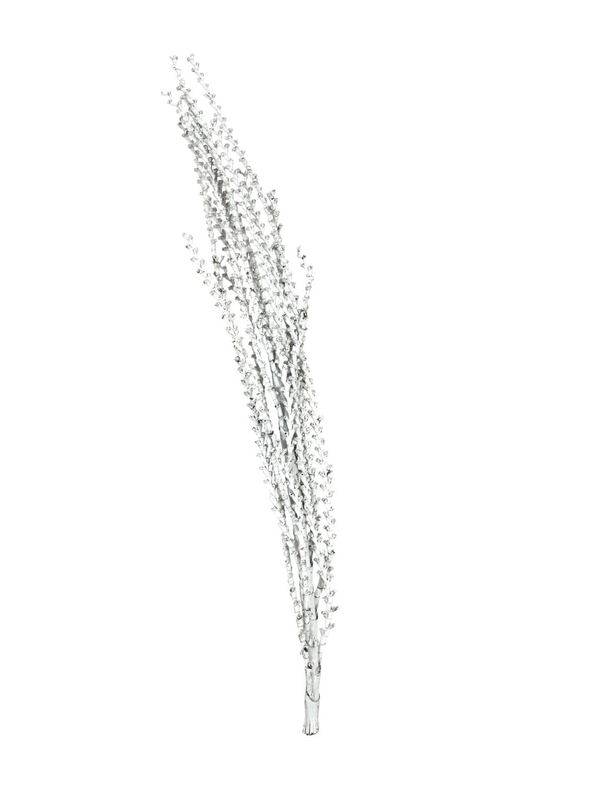 Galho Buriti přírodní větvička bílá, 150 cm