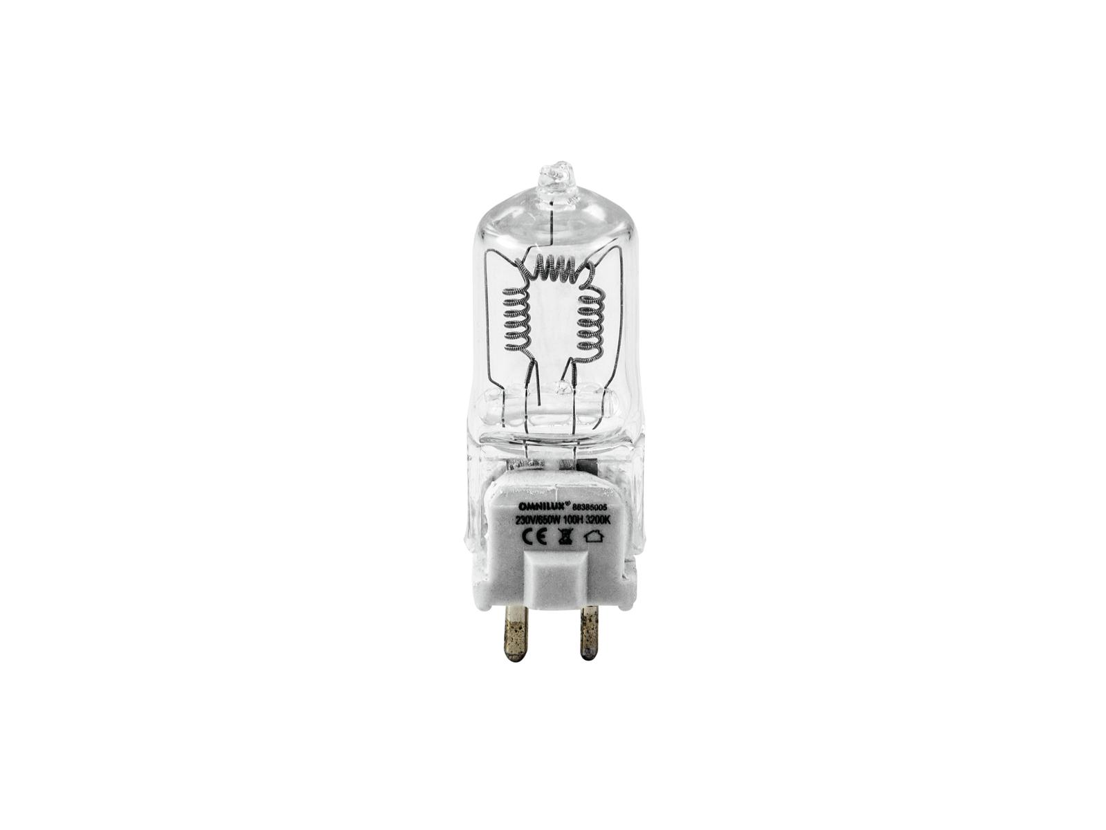 230V/650W GY 9,5 50h Omnilux