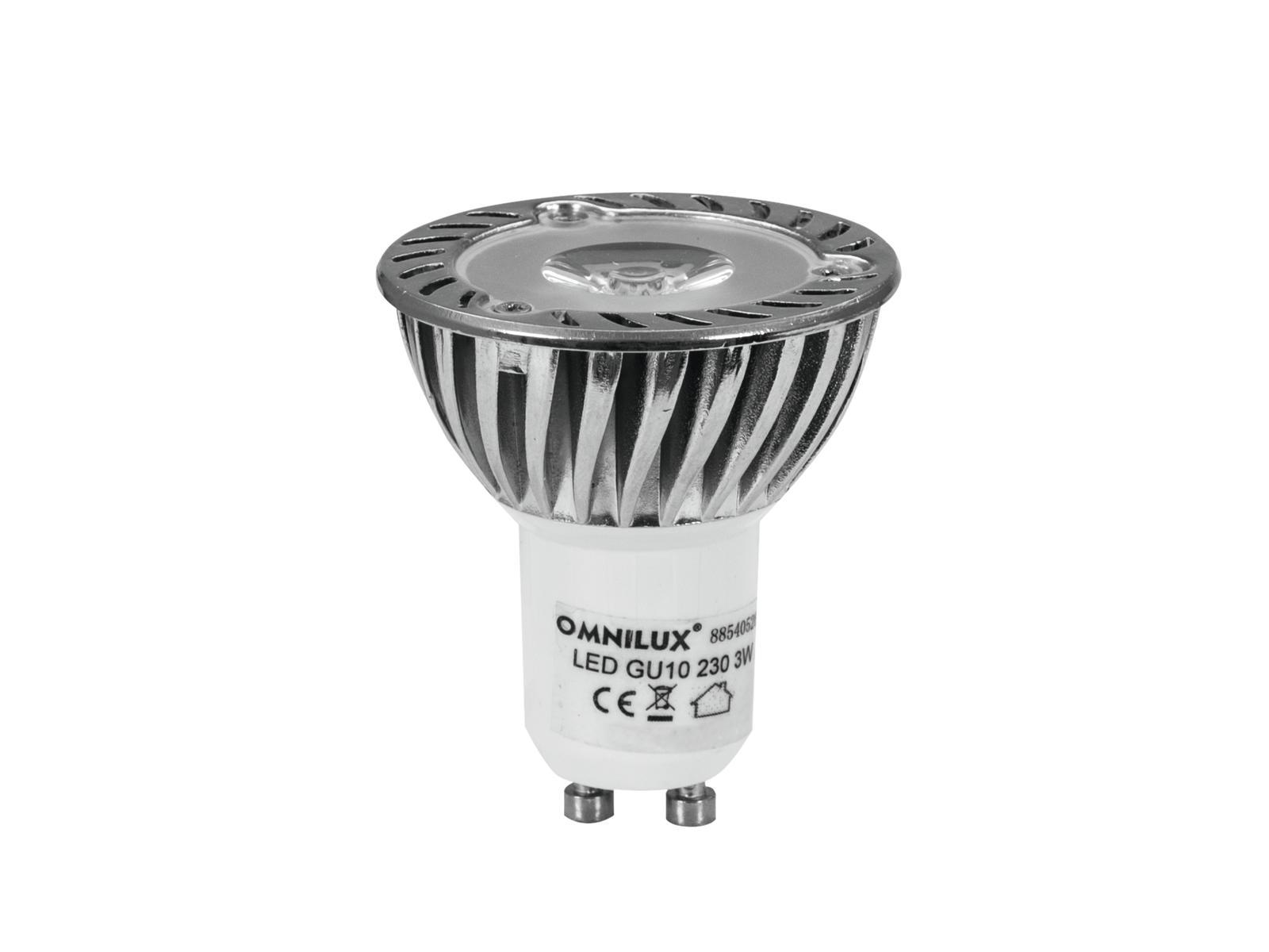 230V GU-10 3W LED Omnilux, žlutá