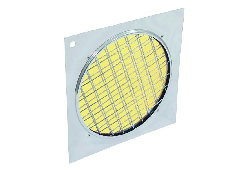 Dichrofiltr PAR 64 žlutý, stříbrný rámeček