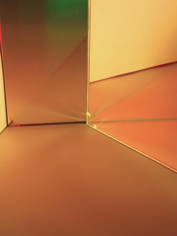 Dichrofiltr 345 x 333 x 4 mm, zlato-žlutý